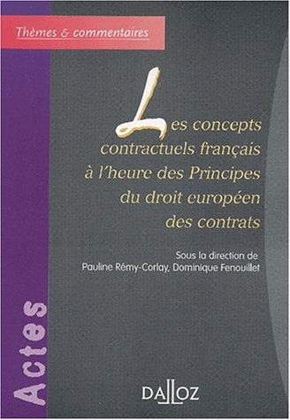 CONCEPTS CONTRACTUELS FRANCAIS