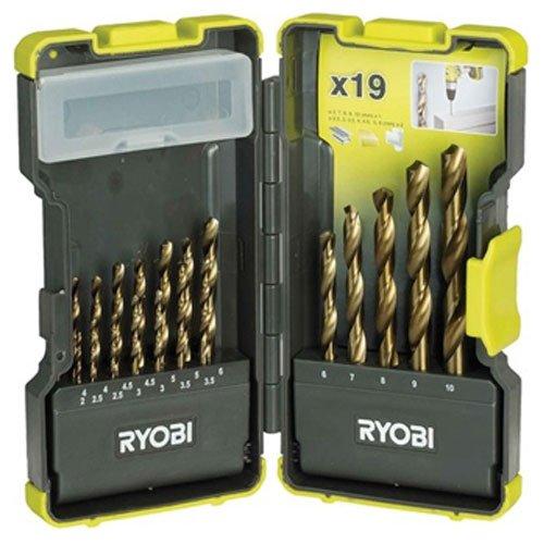 Präzise Engineered royobi ProGrade 19Stück HSS-Bohrer Set 2–10mm in stapelbar Fall [Multi Set]–W/3Jahre rescu3® Garantie (Ryobi Bohrer Fall)