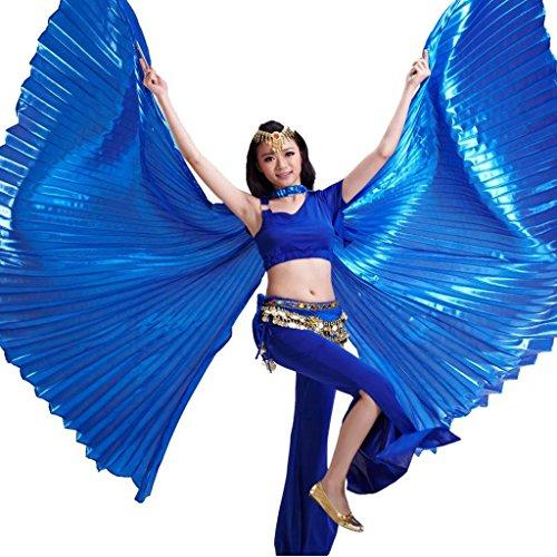 Best Dance Damen Ägyptische Ägypten Belly Dance Kostüm bifurcate Isis Flügel Gr. Einheitsgröße, Navy (Dance Kostüme Co)