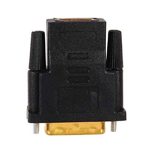 Zerone HDMI auf DVI Adapter,DVI 24 + 1 Stecker auf HDMI Buchse PC Kabel Adapter Konverter für Digital für HDTV LCD 1080P - Vergoldet -