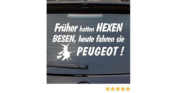 Auto Aufkleber Früher Hatten Hexen Besen Heute Fahren Sie Peugeot Heckscheibe Auto
