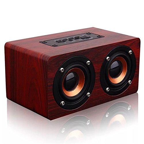 QAZWSX Hölzerner Tragbarer Bluetooth-Sprecher 10 W Unterstützungs-Aux 32G TF-Karte Für Telefon PC mit Mikrofon Leistungsfähigem Drahtlosem Sprecher,A