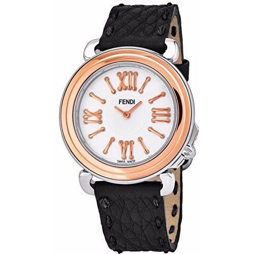 Fendi Women's Selleria 35mm Leather Band Swiss Quartz Watch F8012345H0.SN01