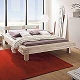 Bett aus Balken Akazie Massivholz Breite 209 cm Liegefläche 180x200 Pharao24