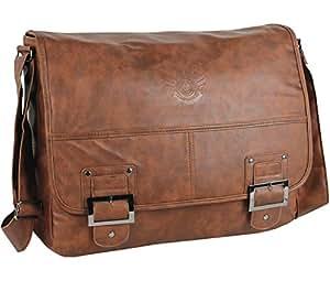 DANIEL RAY Umhängetasche HAVANNA Schultertasche Laptop Tasche Messenger Schultasche Cognac