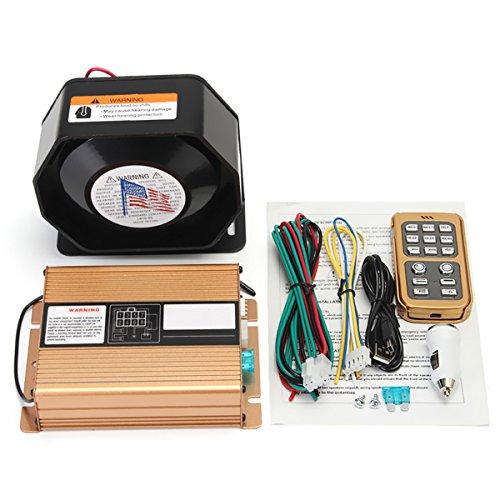 Tutoy 400W 8 Ton Laut Warnung Alarm Polizeisirene Horn Speaker Mic System (Alarm Warnung System)