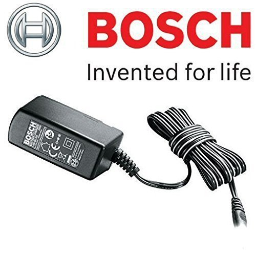 Bosch Genuine Battery Charger (To Fit:- Bosch Cordless ISIO 3 (Version 3) Garden Shrub/Grass/Edging Shears (UK/GB 3-Pin End Plug Version) c/w STANLEY Key Tape & Cadbury Chocolate Bar by Bosch
