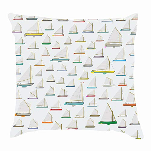 dfgi small sail Boat Rigging Single Objects Nautical Throw Pillow Covers Cotton Linen Cushion Cover Cases Pillowcases Sofa Home Decor 18