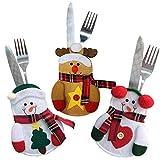 Festival Weihnachten Gabeln Messer Schutzhülle Geschirr Taschen Decor Tasche Anzug silvereware Halterungen Weihnachts Besteck Staubbeutel Snowmantree+heartshped+elk