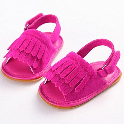 Culater® Ragazza del bambino Presepe Fiore morbida suola antiscivolo doposci sandali Scarpe Rosa caldo