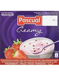 Pascual Yogur Cremoso Fresa - Paquete de 4 x 125 gr - Total: 500 gr