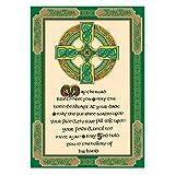 Irisches Geschirrtuch mit Sprüche mit keltischem Kreuz