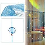Bluelans® Beaded String Curtain With 40 Beads Window Door Beauty Decorative Panel Room Divider Fly Screen Blind Tassel (200cm x 100cm, Blue)