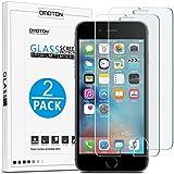 [2 Stück] OMOTON Panzerglas Displayschutzfolie für iPhone 6s, 9H Härte, Anti-Kratzen, Anti-Öl, Anti-Bläschen, lebenslange Garantie