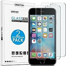 iPhone 6s Cristal Templado OMOTON [2 Unidades] Protector de Pantalla iPhone 6 / 6s [2.5d Borde redondo]con[9H Dureza][Garantía de por vida]