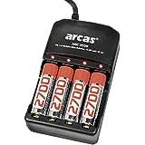 Arcas Chargeur universel ARC-2009 avec 4 accus AA 2700
