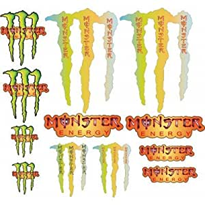 12 autocollants stickers monster energy 5