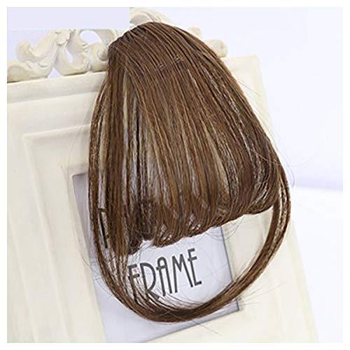 ng Clip in auf Fransen Haarverlängerung Extensions Damen Damen Mädchen Mode Wahl Schwarz Blond Braun ()