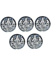 Kataria Jewellers Lakshmi Combo of 5 Silver Coin 2 Grams In 999 Purity Hallmarked Silver