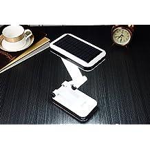 [lámpara solar] de escritorio recargable, plegable y ajustable possédant 24LED économes en energía, alta eficiencia y larga duración de vida–5horas de autonomía–con dos moda de trabajando.
