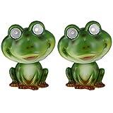 2er Set nLED Solar Lampe Frosch Design Garten Weg Beleuchtungen Tier Figur Steh Leuchten