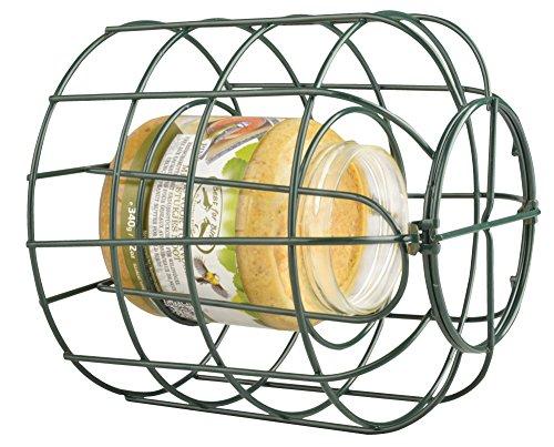 Beeztees 48553metallo titolare per burro di arachidi in vetro, 15cm, Verde