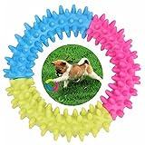 myfei Pet Dog Thorn Kauen Ring, TPR Pet Ringe Stich, Gummi Thorn Ring Dental Zähne Beißen Ring Hundespielzeug ungiftig Form Dental Gesundes Training Toys