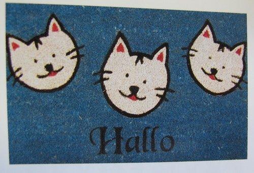 Felpudos Gatos 40 x 60 cm azul gatos