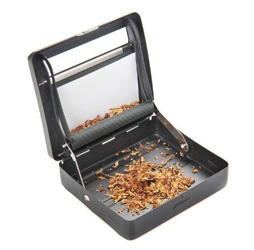 Maquina semiautomática de liar cigarrilos (maquina para enrolar) hecha de aleación de zinco (9cm x 8cm x 2cm), de color negro mate, Mod. 753 DE