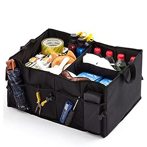 Gudior Premium Organiseur de coffre de voiture, pliable Cargo Container-non Slip Bas Bande Heavy Duty Auto de stockage pour voiture, SUV, camion, Monospace (véhicule), provisions et Home-1Lot