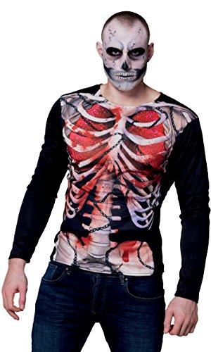 ealistisches Shirt Skelett, Sonstige Spielwaren ()