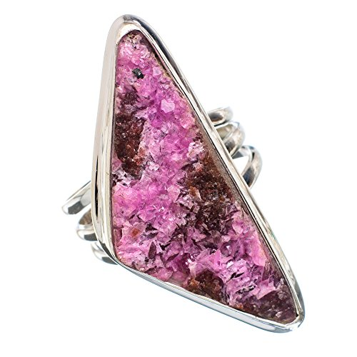 y, Cobalto Calcit Druzy 925 Sterling Silber Ring 9 (Druzy-ring)