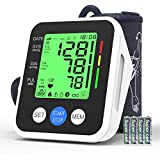 Blood Pressure Monitor, AUCEE Digital Automatic Upper Arm Blood Pressure Monitor and Heart Rate Pulse with Wide-Range Cuff for Home Use, 2 x 99 Memories, Large 3.5 inch Three-Color Backlight Display