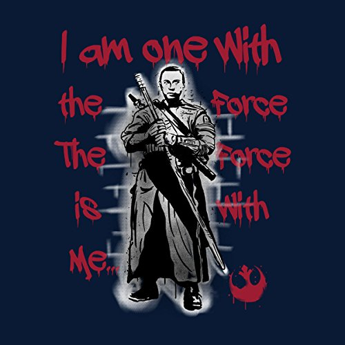 Star Wars Rogue One Chirrut Imwe One With The Force Men's Vest Navy Blue
