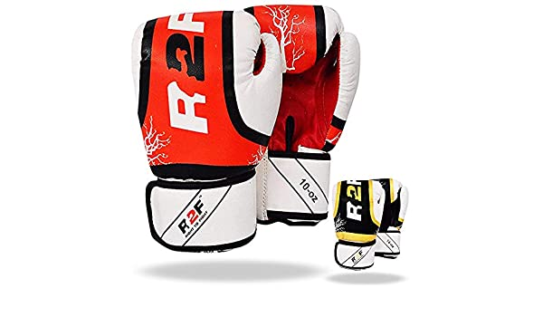 R2F Muay Thai MMA Sparring Entra/înement Mitts Sports Perforation Python Boxe Gants