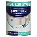 Best Emulsion Paints - Johnstone's 303929 One Coat Satin Paint 1.25 Litre Review