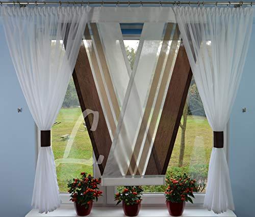 V-Panel Moderne Gardinen Scheibengardinen Fensterdekoration Set für Fenster 120-180 cm
