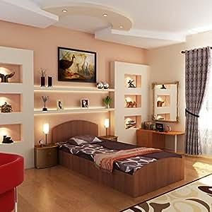 Housefull New Oasis Single Size Bed (Oak)