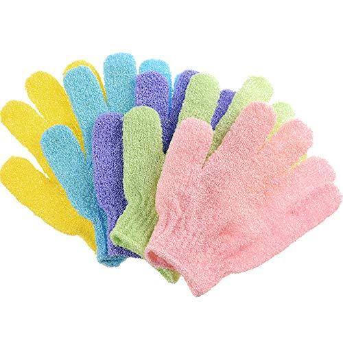 Peeling-Handschuhe Baden Dusche Handschuhe Körper Waschen Net Clean Body Entfernen Dead Skins 10 Pack Entfernen Sie abgestorbene Haut Bath Body Scrub Mi (Farbe : 10 Pack Random Color) -