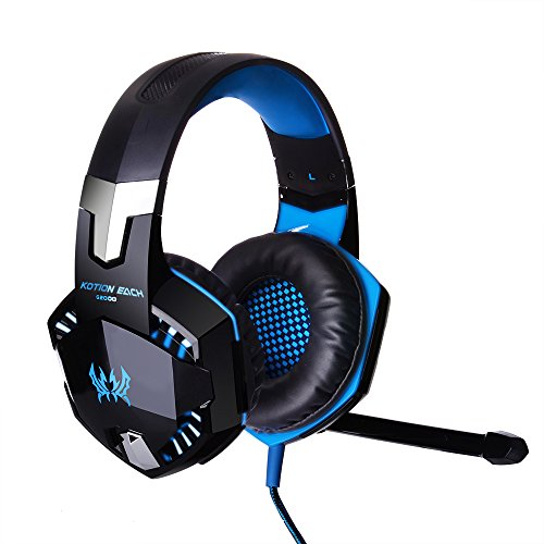 TIAN 2018 Multi-Plate-Forme Nouvelle Xbox One QP4 Gaming Casque SA810 Gaming Casques Casque La Nouvelle Xbox One/QP4/PC/Laptop/Mac/Ipad/Ipod,Blue