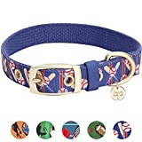 Blueberry Pet Sport Fan Baseball Designer Hundehalsband in Marineblau, M, Hals 33cm-42cm