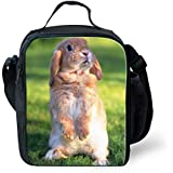 CHAQLIN Vintage Rabbit Face Unisex Picnic Food Storage Day Lunch Box