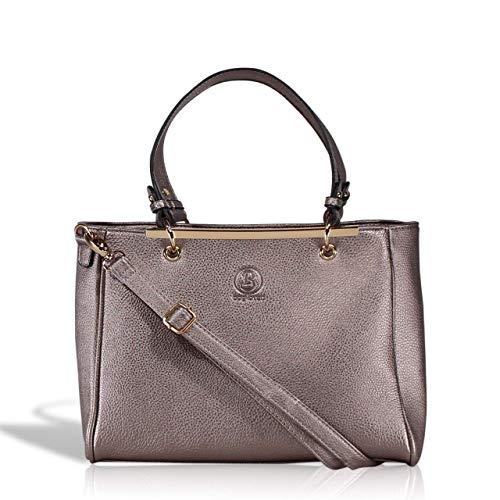 Metallic Pu-geldbeutel-handtasche (bag lovers - First Love - Wunderschöne Handtasche für Damen - Stylische Tote bag in Premiumqualität - mit Schulterriemen - metallic)