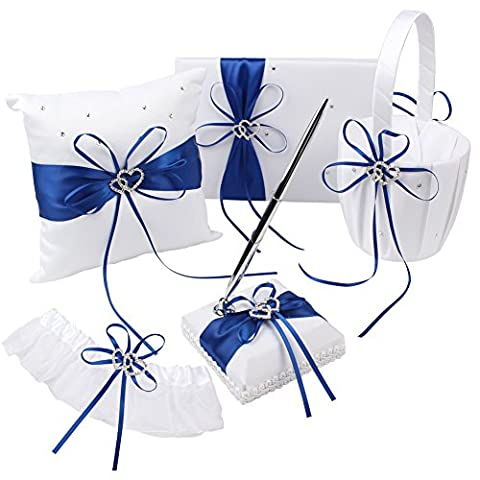 OurWarm Wedding Guest Book + Pen Set + Flower Basket