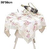 rokoo Tischdecke rund Vintage Blume gedruckt Home Decor Staubfrei, Küche Abendessen Tisch CLOTH Cover, 2, 90*90