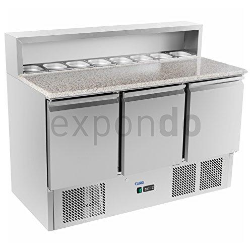 Royal Catering - RCKT-137/70-G - Pizza-Kühltisch mit Granitarbeitsplatte - 137 x 70 cm