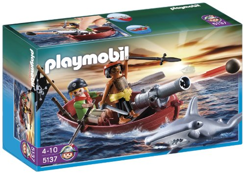 Playmobil Piratas - Bote pirata con...