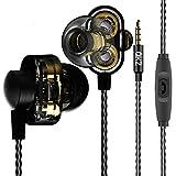 qkz DM8Kopfhörer Dual Driver Extra Bass Turbo breit Sound Gaming Headset MP3DJ Field Headset, Noise Cancelling Headset mit Mikrofon für Smart Handy/PC/Laptop