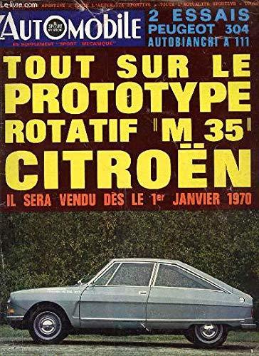 L'AUTOMOBILE N°283 / DECEMBRE 1969 - EN SUPPLEMENT