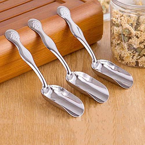 TAOtTAO Spoon Edelstahl-einfache Spachtel-Tee-Satz-Zusatz-Kaffeebohne-Pulver-Spachtel